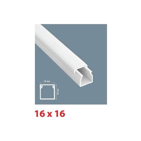 Mutlusan lišta inštalačná PVC 16X16