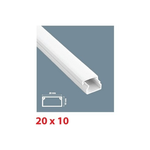 Mutlusan lišta inštalačná PVC 20x10