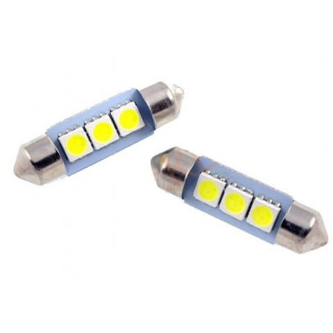 LED auto žiarovka 41mm C5W 3 SMD5050