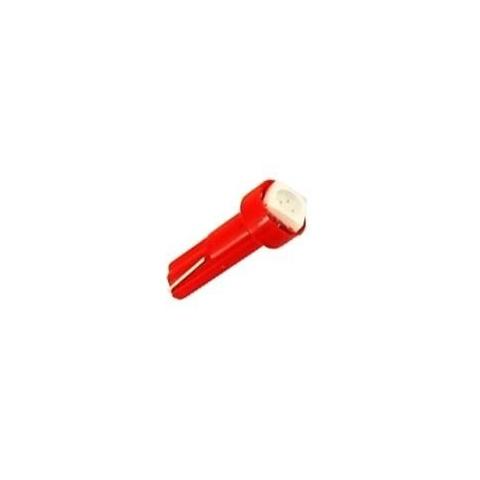 LED auto žiarovka T5 LED 0,5W 12V červená
