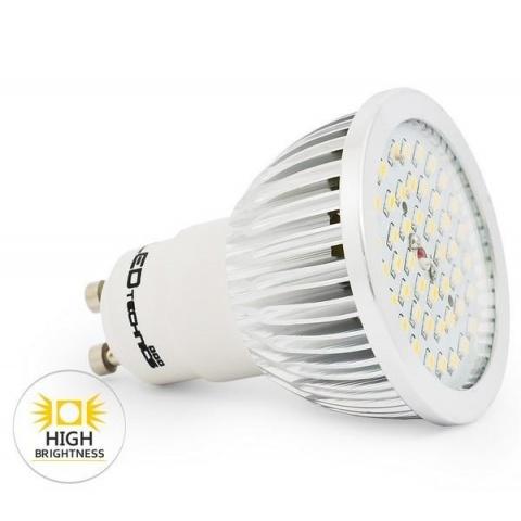 LED žiarovka 45 SMD 3014 4.5W Studená, GU10