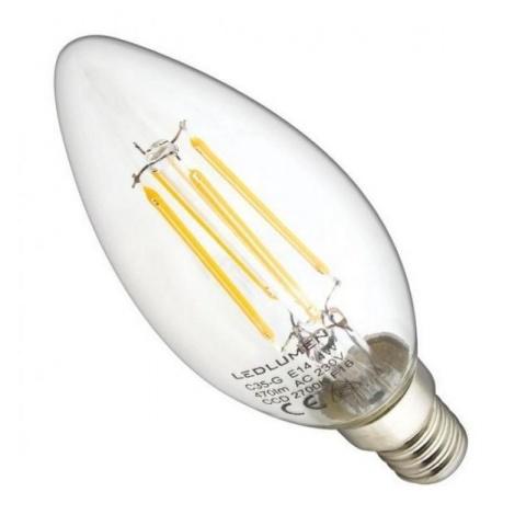 LED žiarovka Filament 4W Teplá biela E14