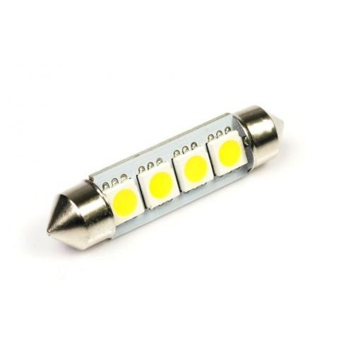 LED auto žiarovka 39mm C5W 4 SMD5050, teplá biela
