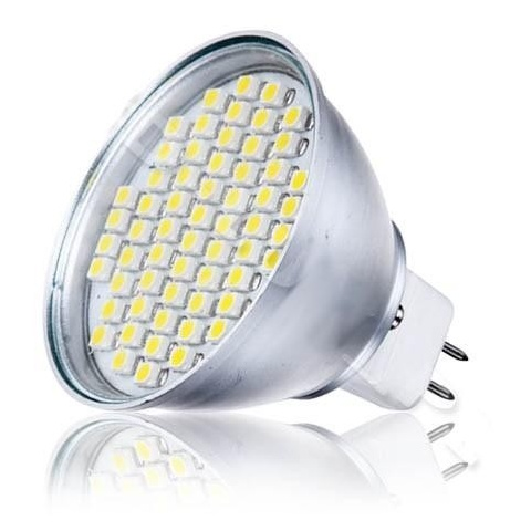 LED žiarovka 80 SMD3528,12V 5.5W Studená, MR16