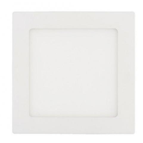LED panel štvorec 12W Teplá biela, biely rám
