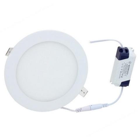 LED panel kruhový vstavaný - 12W - 230V - neutralna biela
