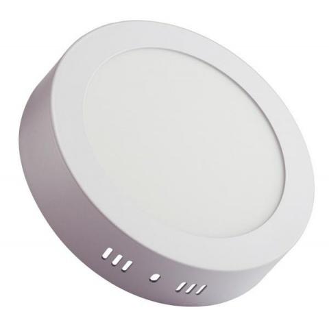 Prisadený LED panel 12W Teplá biela, biely rám