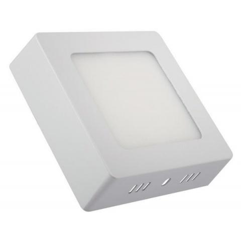 Prisadený LED panel 12W/1080lm Teplá biela, biely rám