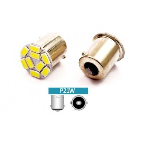 LED auto žiarovka LED BA15S 3W  9-chip SMD5630 P21W