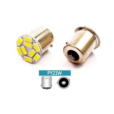 LED auto žiarovka LED BA15S 3W 9-chip SMD5630 Py21W