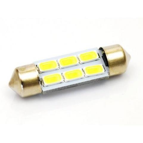 LED auto žiarovka 5W C5W 6 SMD5630 42mm