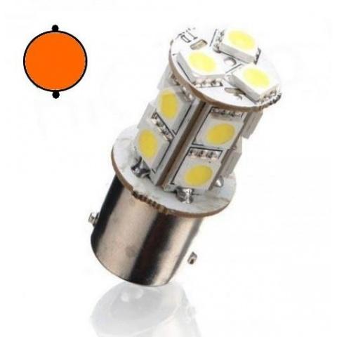 LED auto žiarovka Oranžová BA15S 13 SMD5050 P21W