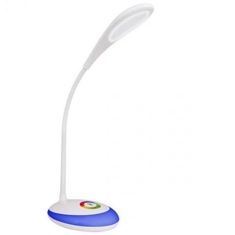 LED stolná lampa biela 5W s nočným RGB podsvietením